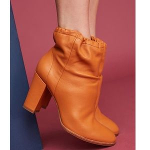 "🔥 *RARE* Burnt Orange ""Agness"" Ruched Booties"
